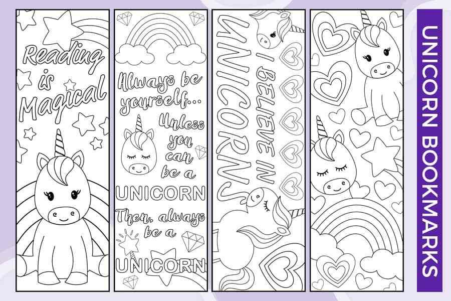 Free Printable Unicorn Bookmarks To Color Coloring Bookmarks Free Printable Crafts Printable Valentine Bookmarks