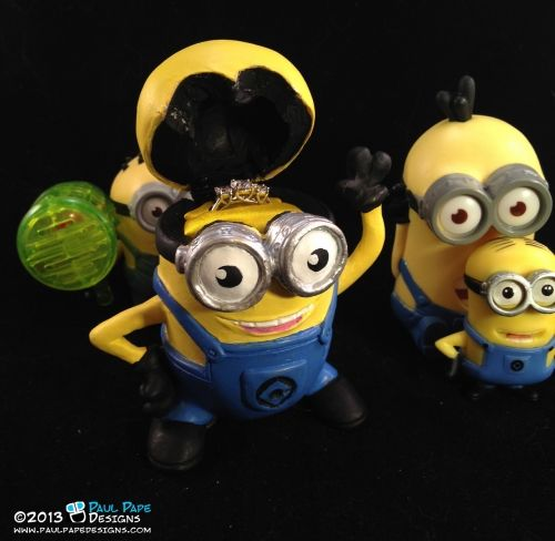 despicable me minion engagement ring box by paul pape