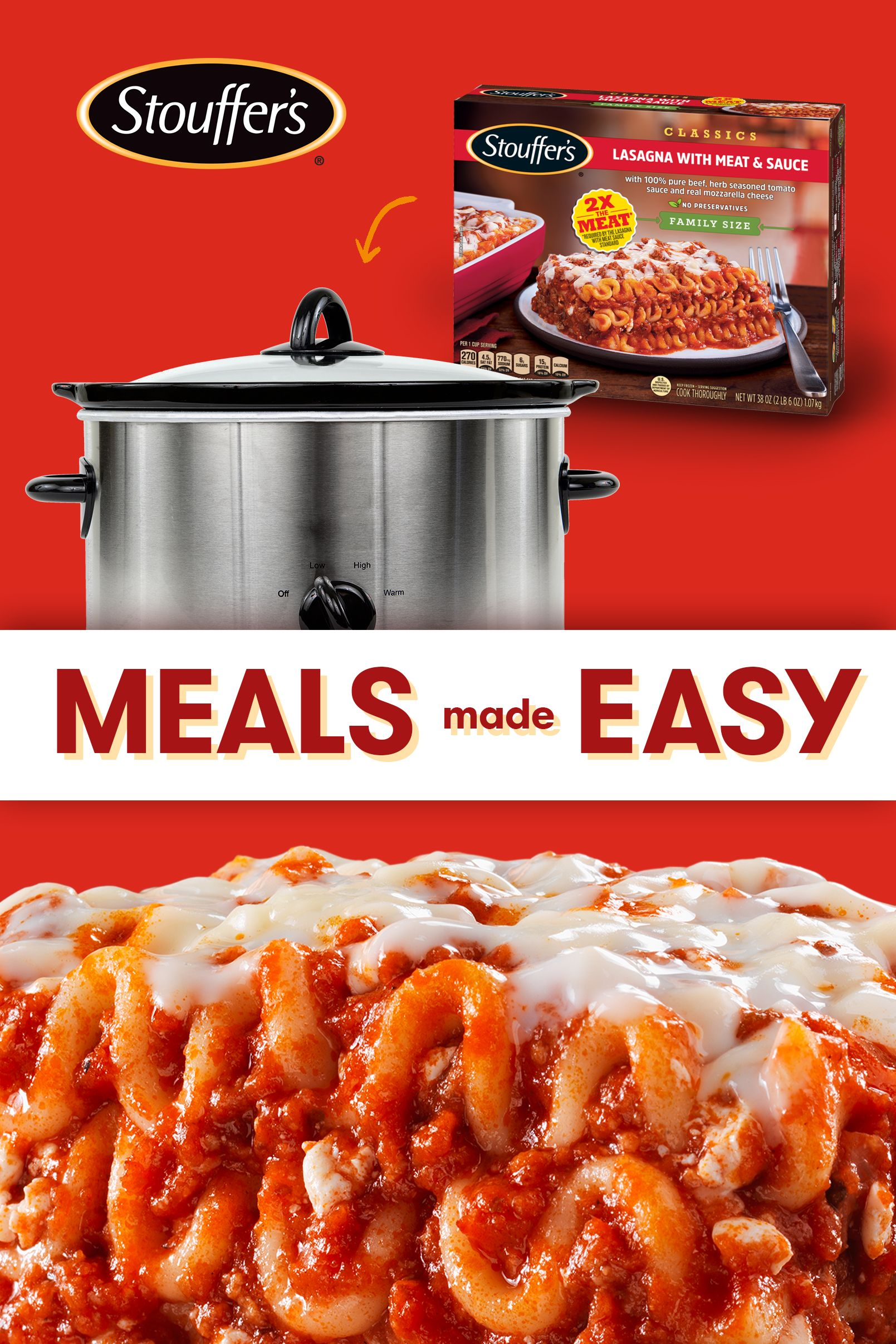 Slow Cook Stouffer S Lasagna Slow Cooker Freezer Meals Stouffers Lasagna Easy Holiday Recipes