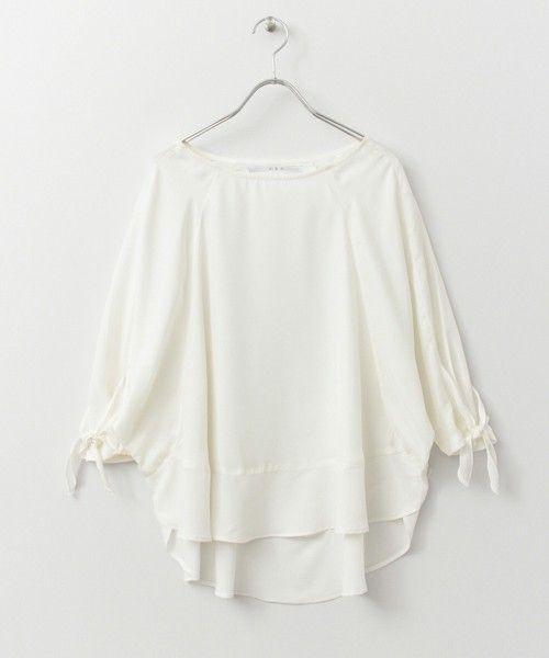KBF リボン結びスリーブプルオーバー(Tシャツ/カットソー)|KBF(ケイビーエフ)のファッション通販 - ZOZOTOWN