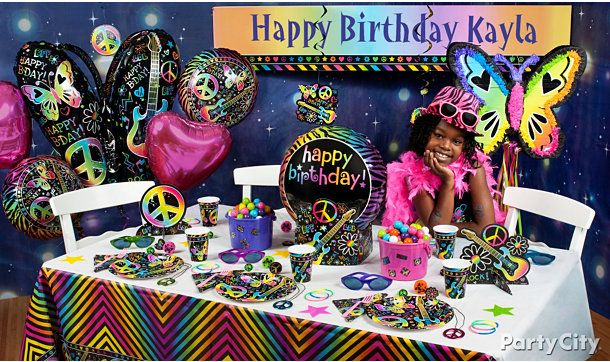 Neon Doodle Birthday Party Ideas - Party City