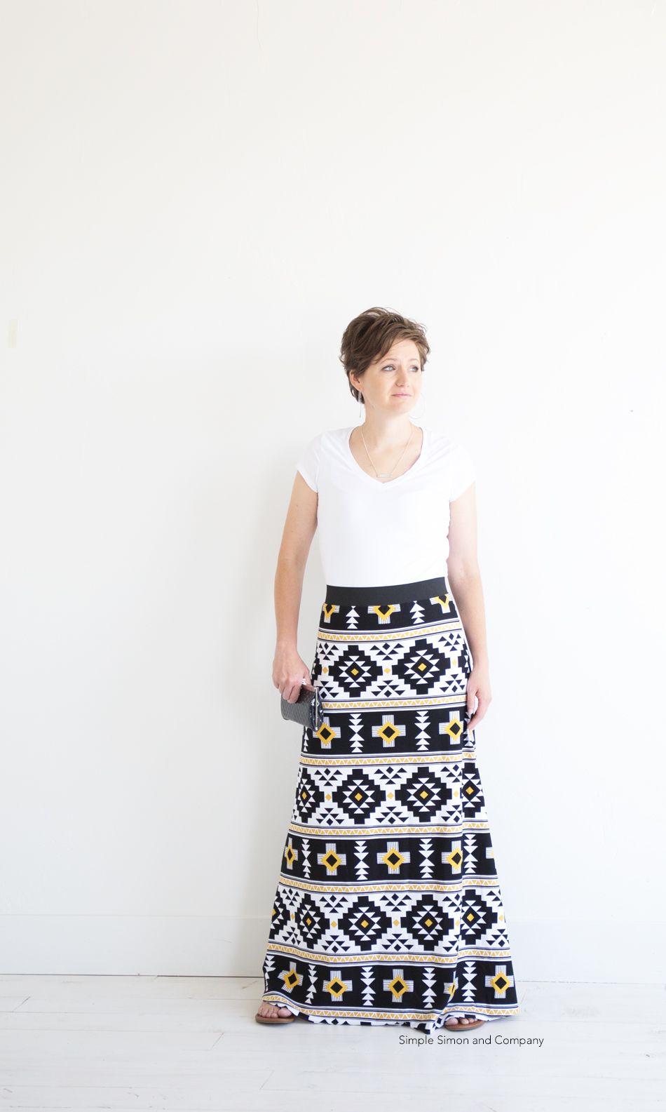 Simple Maxi Skirt PDF Pattern---FREE | Zukünftige NähProjekte ...