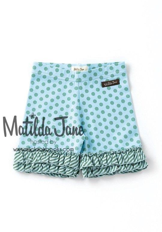 NWT Matilda Jane Adventure Begins Leapfrog Shorties Shorts sz 2 Girls