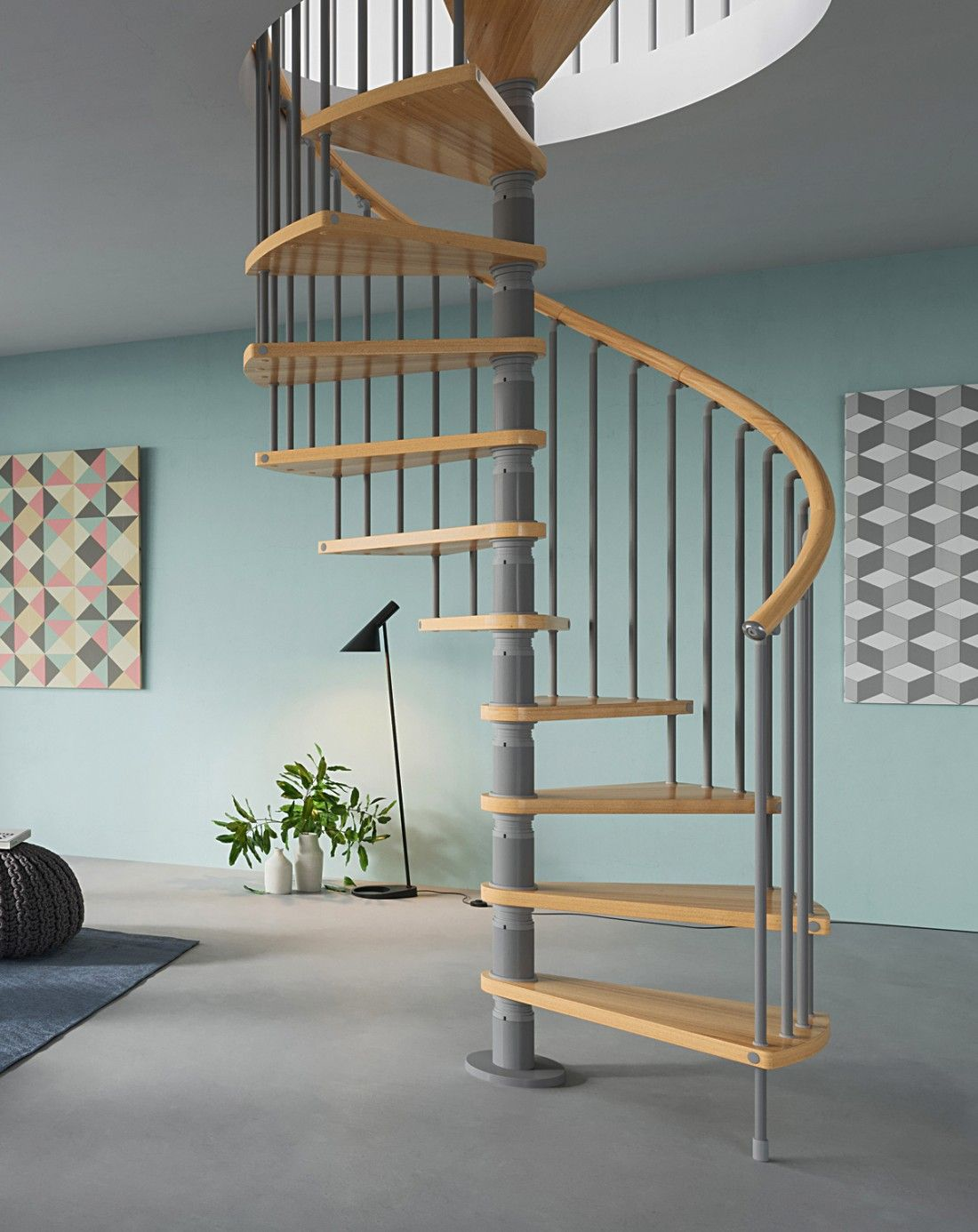 Best Gamia Delux 1400Mm Diameter Spiral Staircase Timber 400 x 300