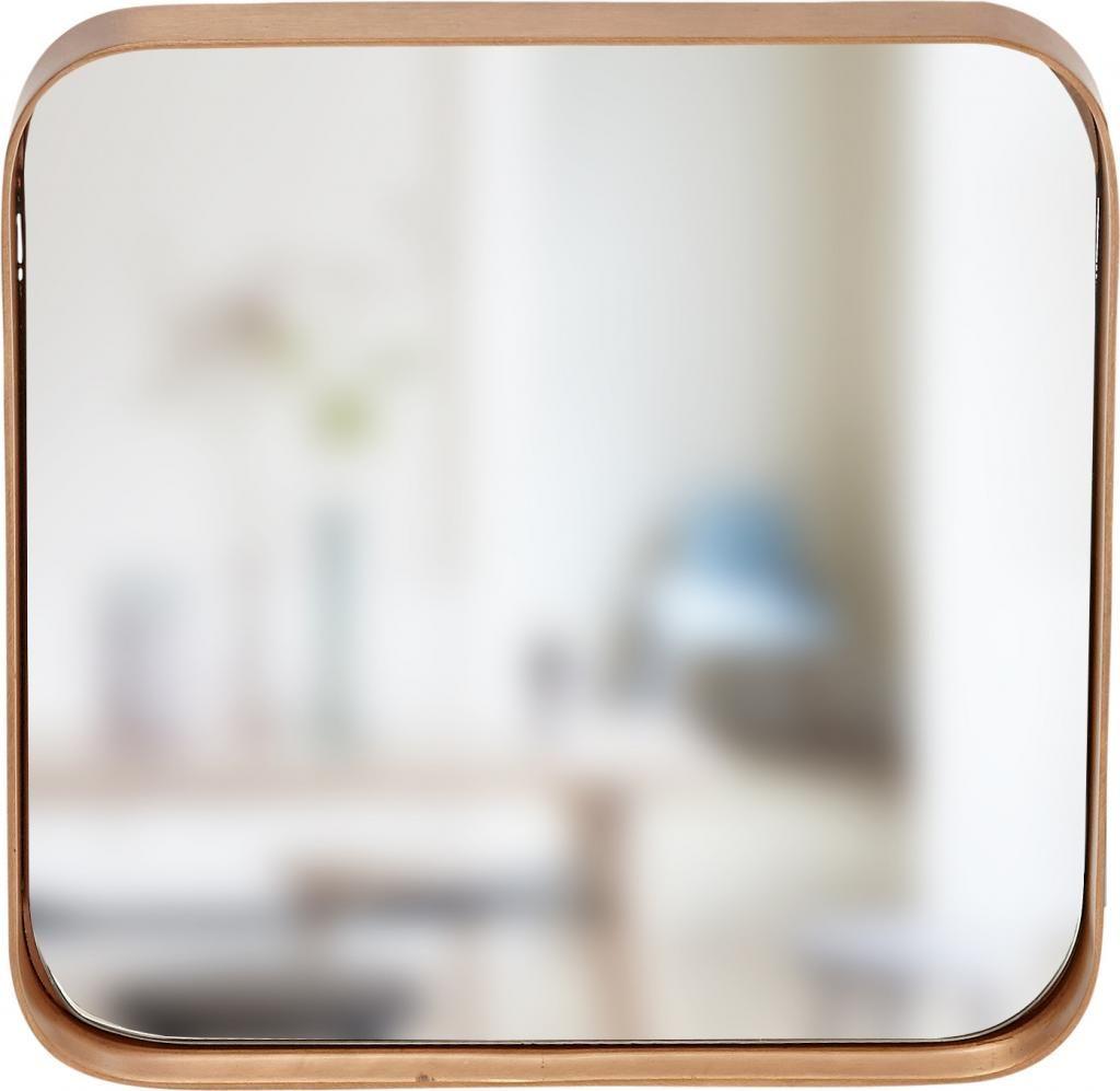 Spiegel - koperen frame - 31x4x31cm - Hubsch