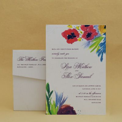Summer Blooms Purple Wedding Floral Cards , E-Card Designs Buy