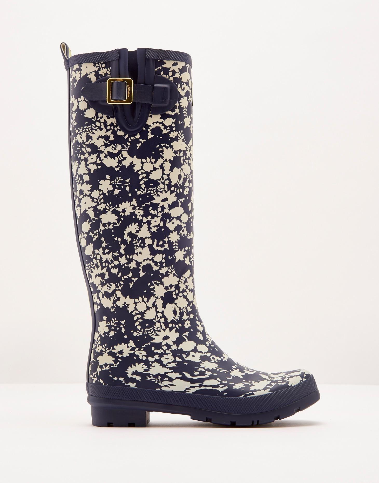 4aff67e7e58 Printed Navy Ditsy Printed Rain Boot Wellies