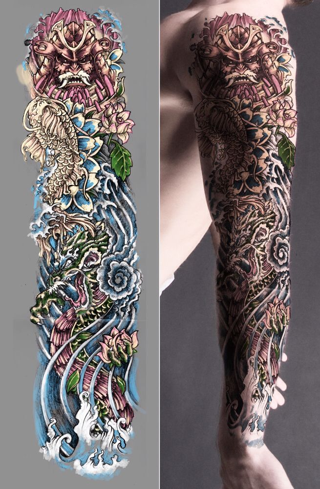 Japanese Sleeve Mejores tatuajes de manga, Tatuaje