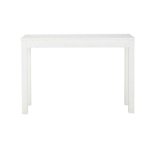 maisons du monde table console en bois massif blanche l 120 cm wishlist maison white side. Black Bedroom Furniture Sets. Home Design Ideas