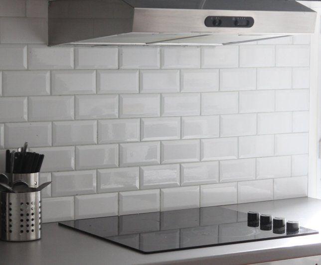 Photo deco cuisine blanc moderne appartement jeune for Deco faience cuisine