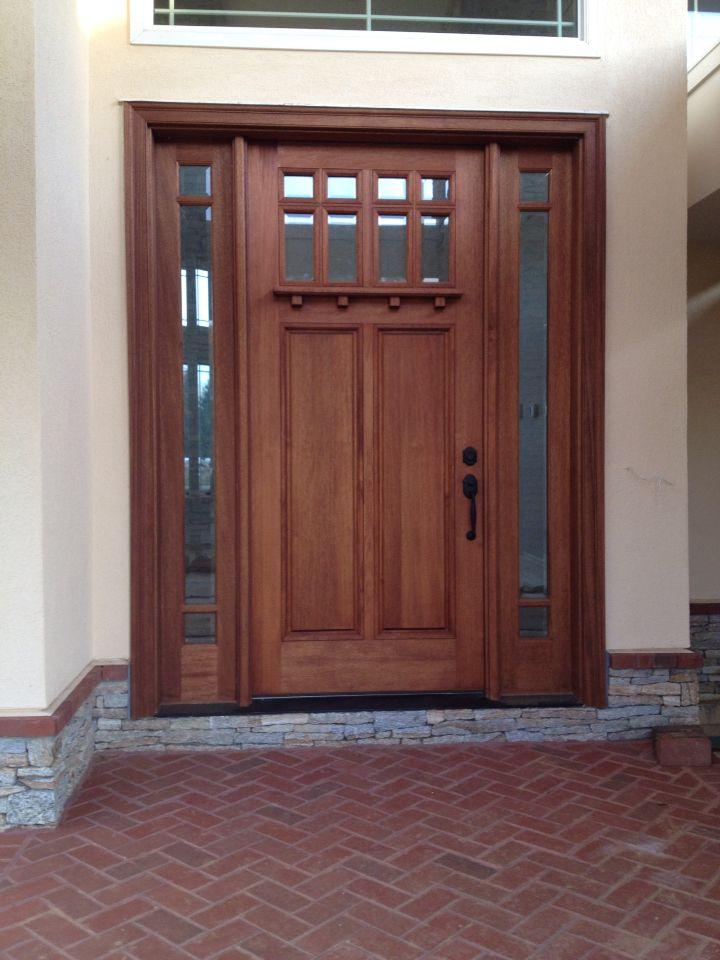 New Pella Mahogany Craftsman Entry Door 42 X 96 Door With 15 Tdl