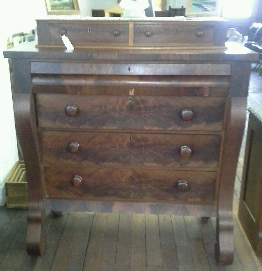 Empire Flame Mahogany Antique Dresser **SHIPPING AVAILABLE** - Empire Flame Mahogany Antique Dresser Dresser, Empire And Antique