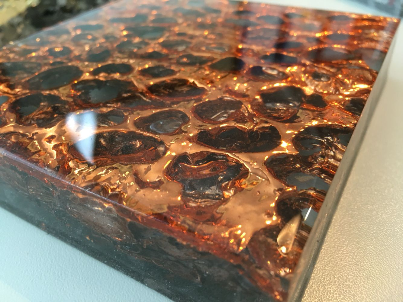 Alusion Chromed Copper And Moulded All Over With Epoxy