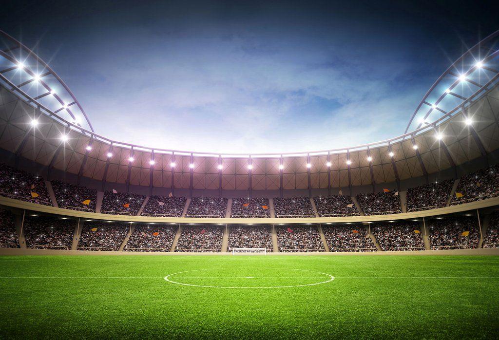 Football Field In Stadium Backdrop For World Cup Sports Hu0326 Football Field Soccer Stadium Soccer