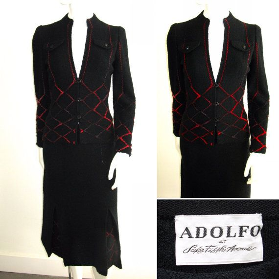 8858bf716bea4 Beautiful 1960s Adolfo at Saks Fifth Avenue Black by FioreAtelier ...