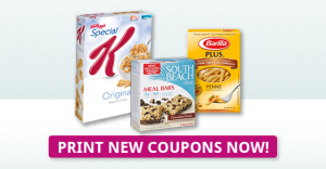 New Coupons: Barilla Pasta, Special K Cereal, South Beach Diet!