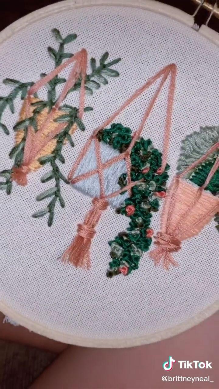 Embroidery plants – Nähen & DIY