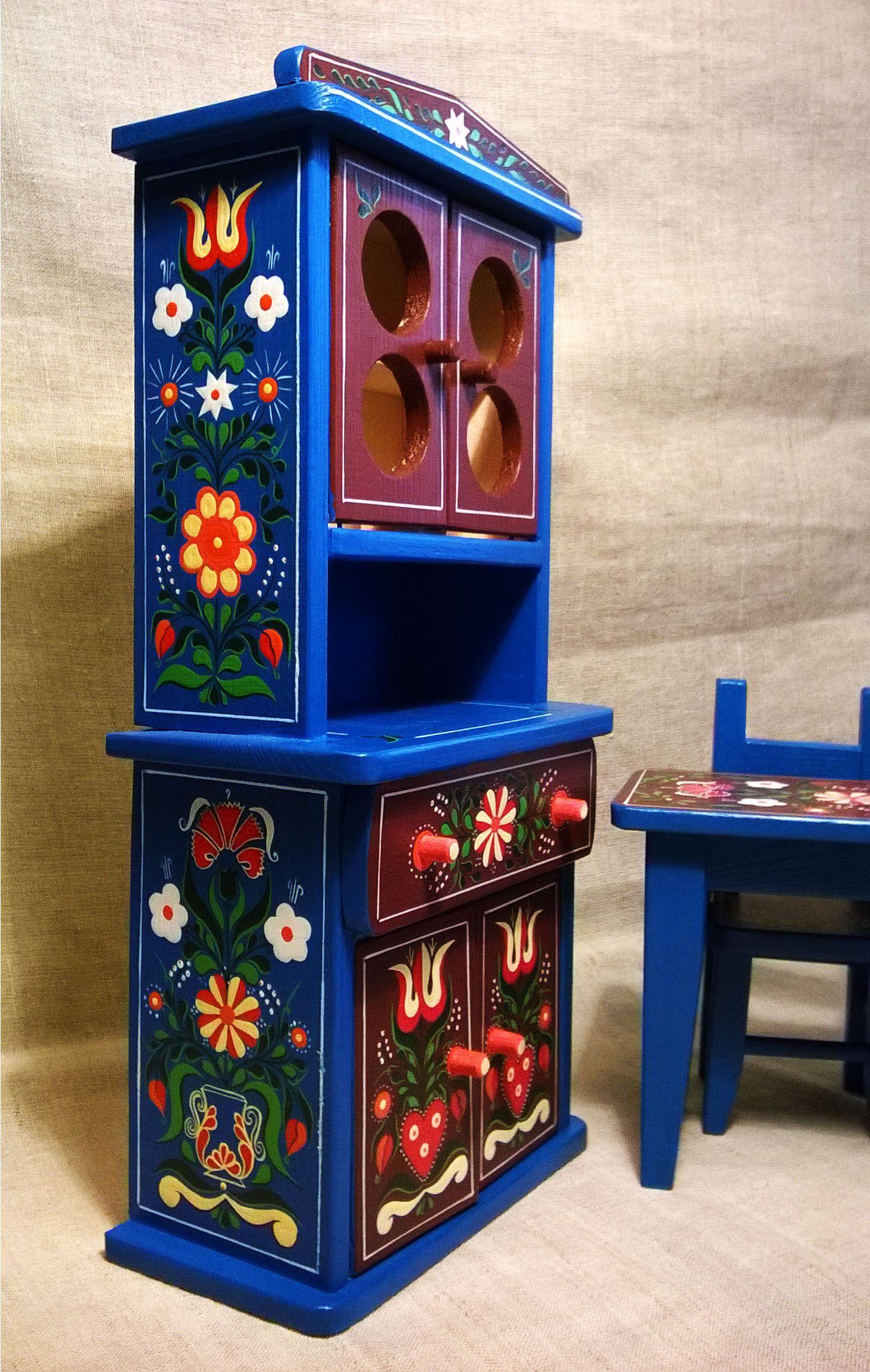 Mini festett gyerek játék bútor (Konyhai) Mini mobilier pictat ...