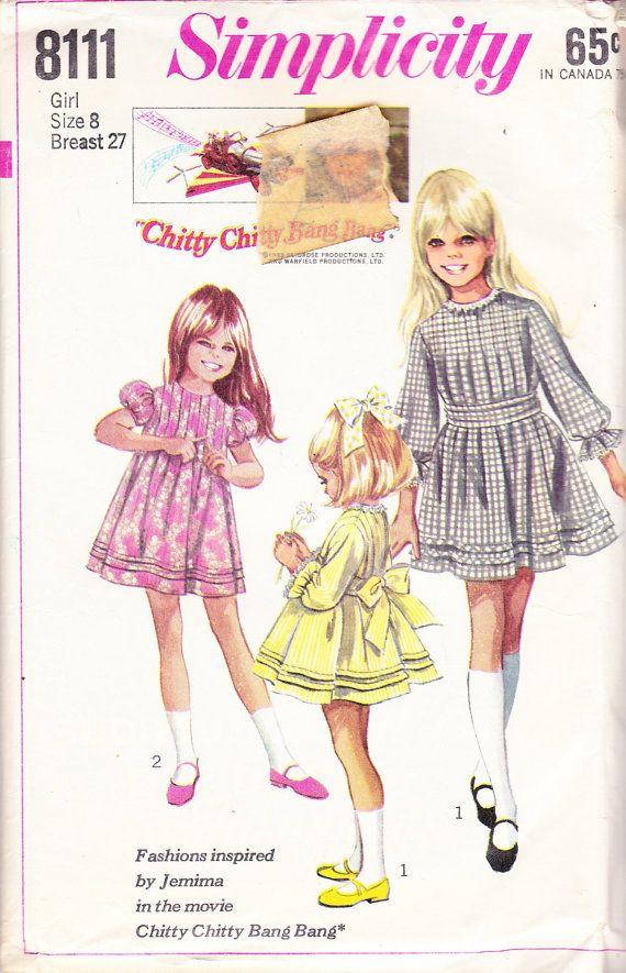 1969 Girls Edwardian Style Mini Dress Inspired by \