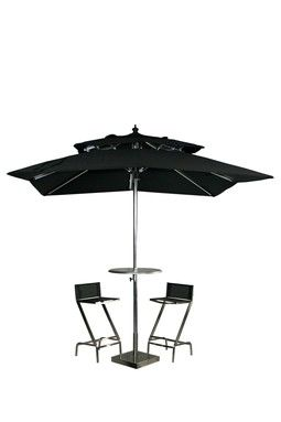 Ise Round Umbrella Bar Table