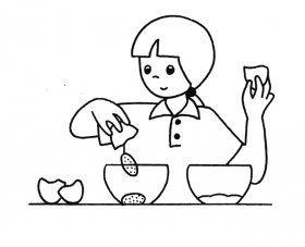 59 images pour illustrer les principales actions lors de vos ateliers cuisine.
