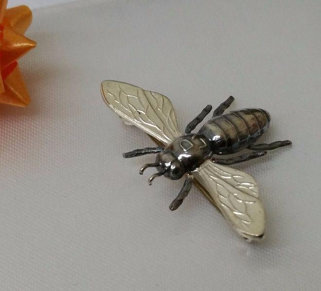 Vintage Broschen - 835er Silberbiene Greifen Kunst G SB115 - ein Designerstück…