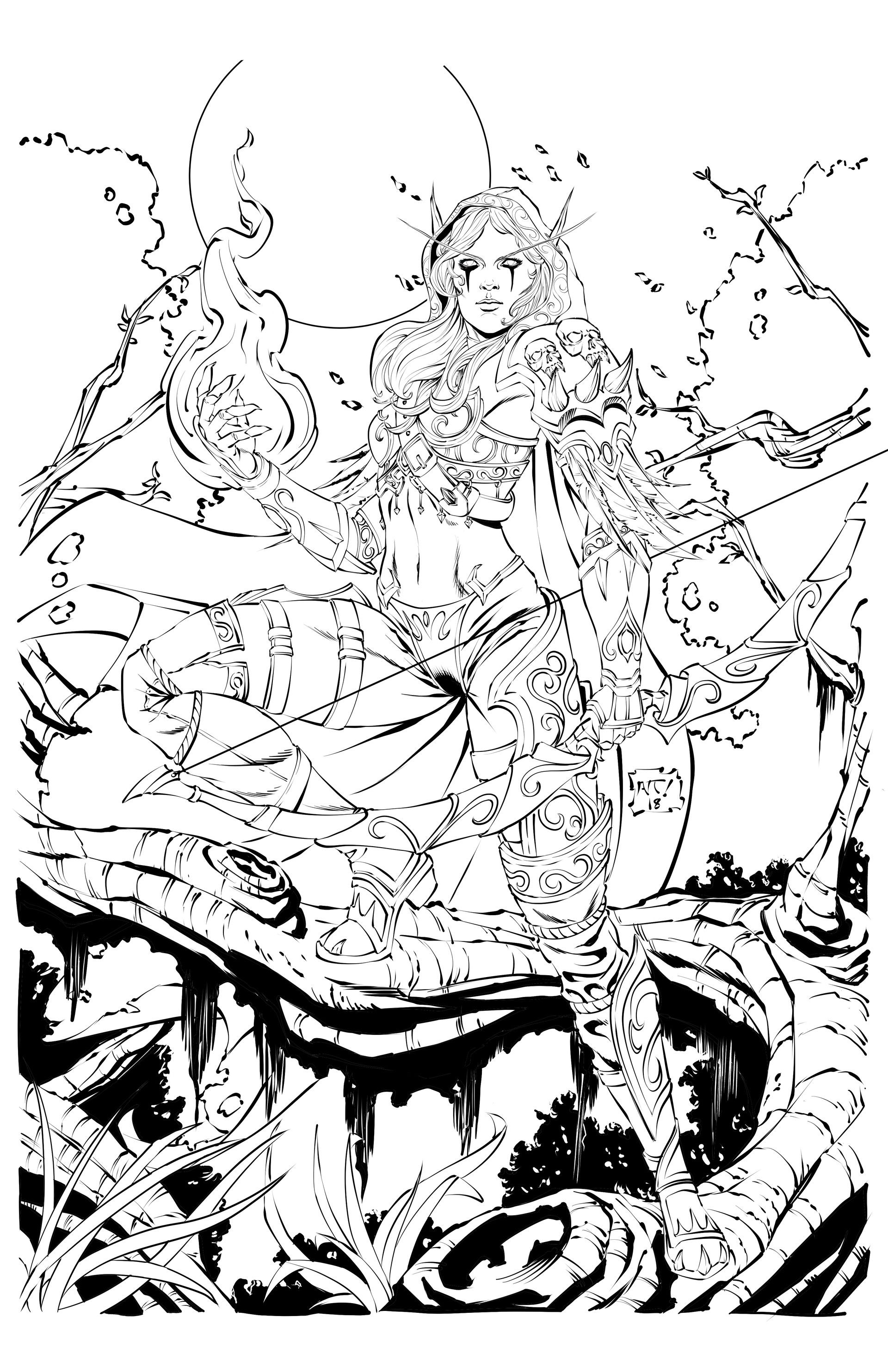 Sylvanas By Antonio Agustinho Artist Freelance Coloring Books Artist Books Coloring Pages