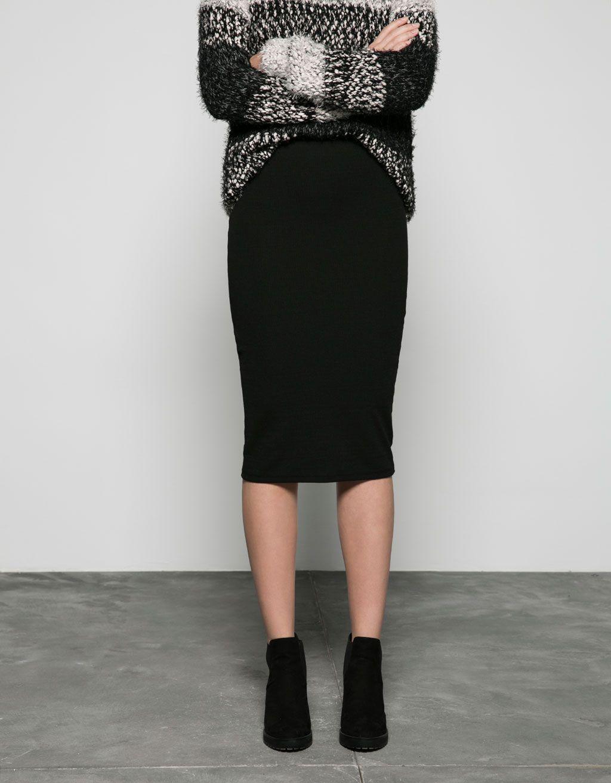 Vestido tubo negro bershka
