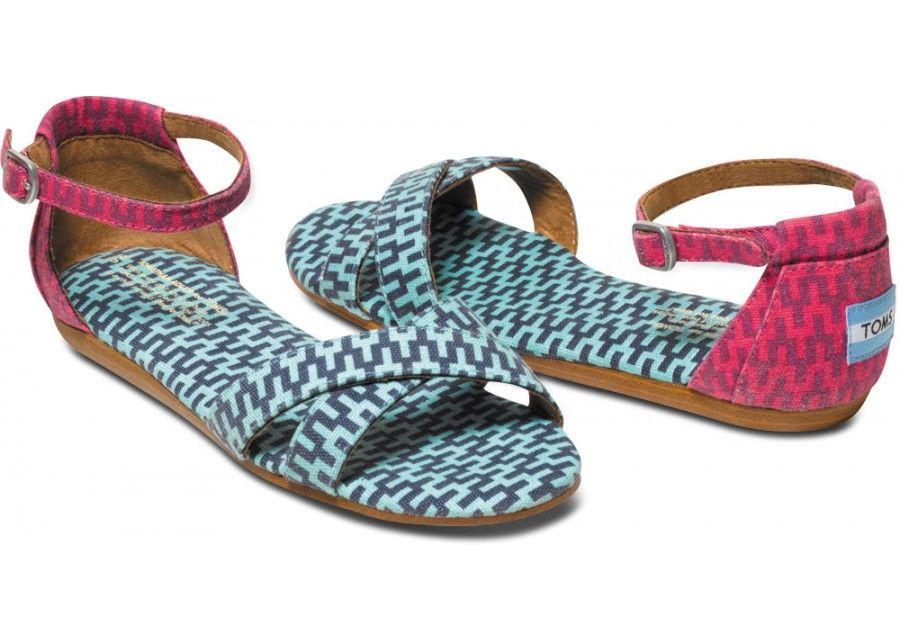 b7cae3707359 Only a few sizes left in our multi geometric Jonathan Adler for  TOMS   Vegan Women s Correa Sandal