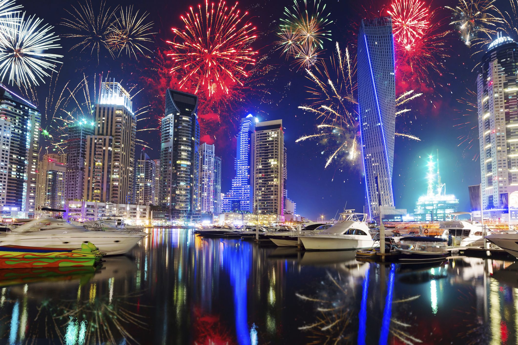 New Years Eve Celebration in Dubai New year fireworks