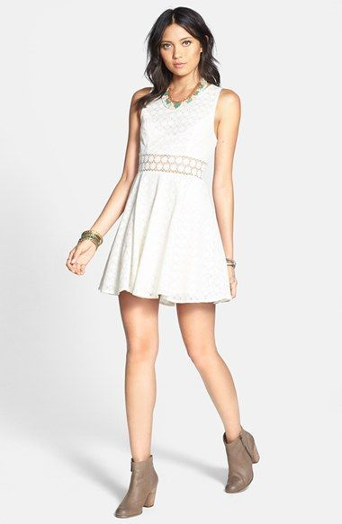 Free People 'Daisy' Lace Fit & Flare Dress available at #Nordstrom