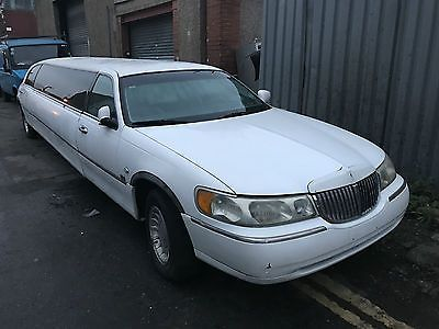 Ebay 1999 Lincoln Town Car Stretch Limousine Wave 4 6 Auto White
