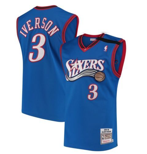 5a0128f9a 100% Authentic Mitchell Ness Allen Iverson Sixers 99 00 NBA Jersey Men Size  36 S (eBay Link)