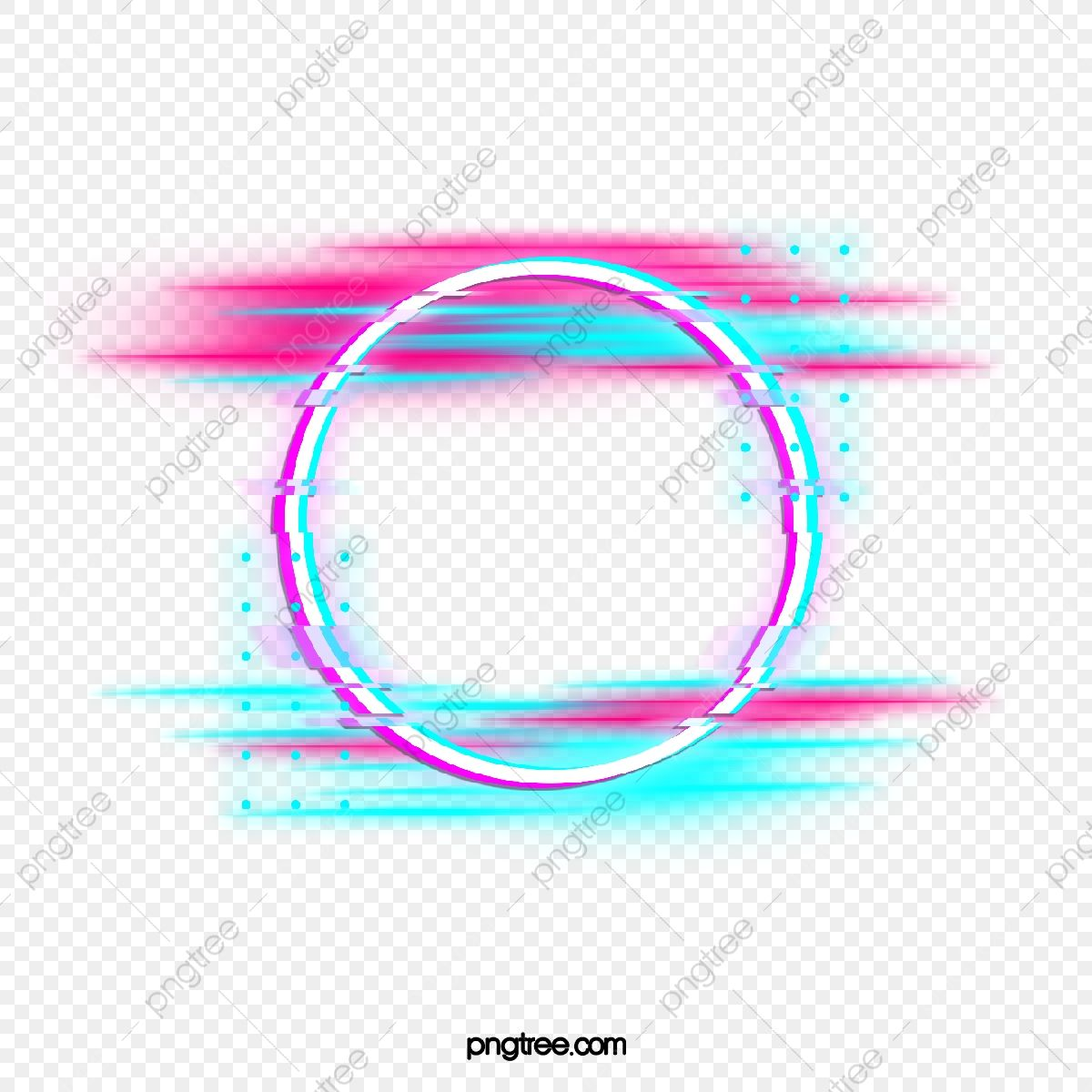 Blue Red Fault Neon Round Border Photo Holographic Circular Png Transparent Clipart Image And Psd File For Free Download Photoshop Video Tutorials Neon Png Round Border