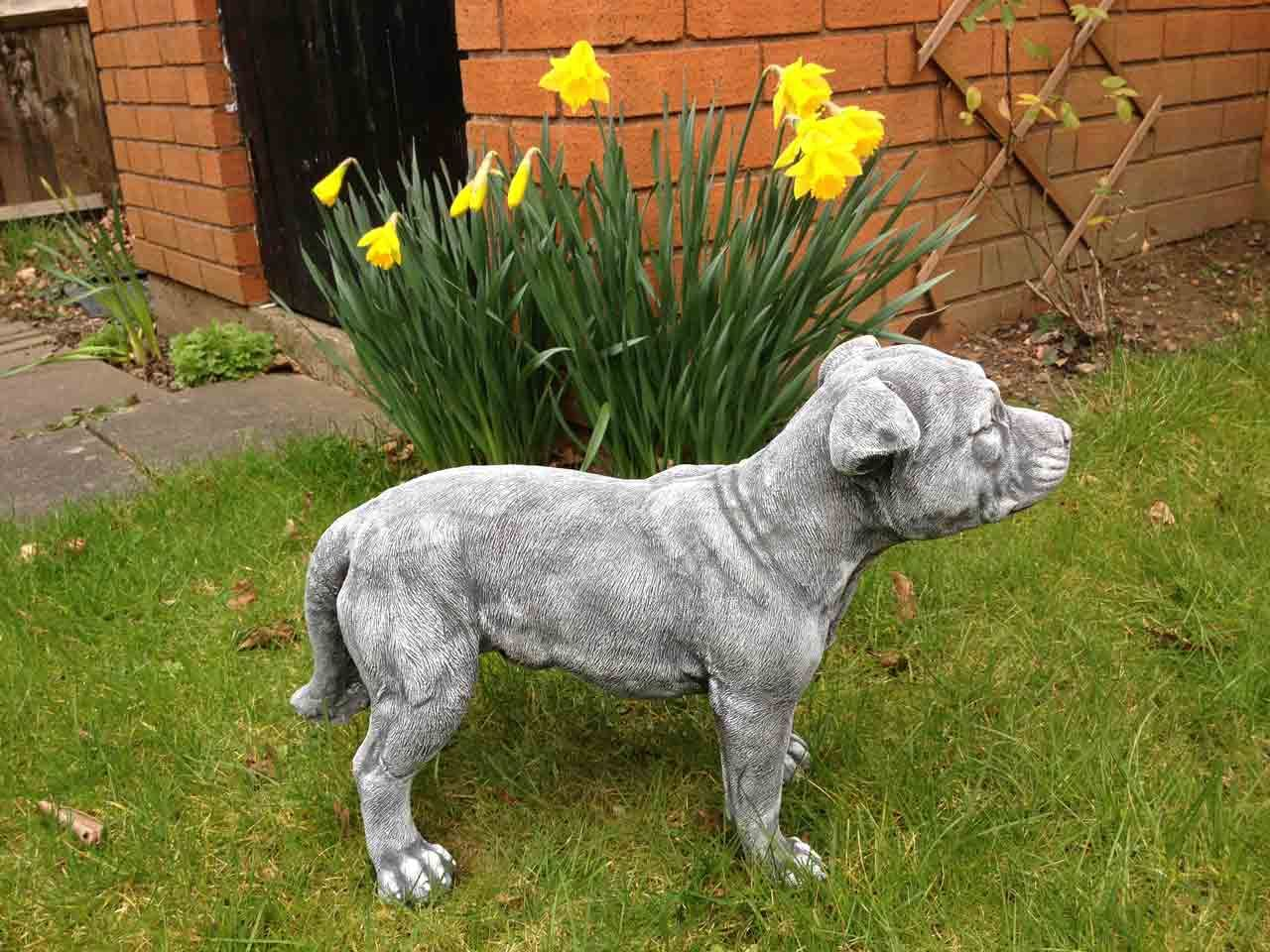 Heron garden ornament - Staffordshire Bull Terrier Ornament