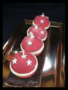 Bûche boules de Noël - Gâteaux en fête de lilou 25 #bouledenoel