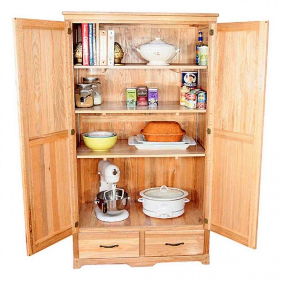 OAK Kitchen Pantry Storage Cabinet Kitchen Pantry Cabinets
