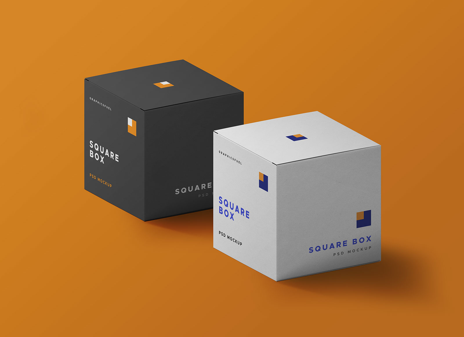 Free Cube Square Box Packaging Mockup Psd Set Packaging Mockup