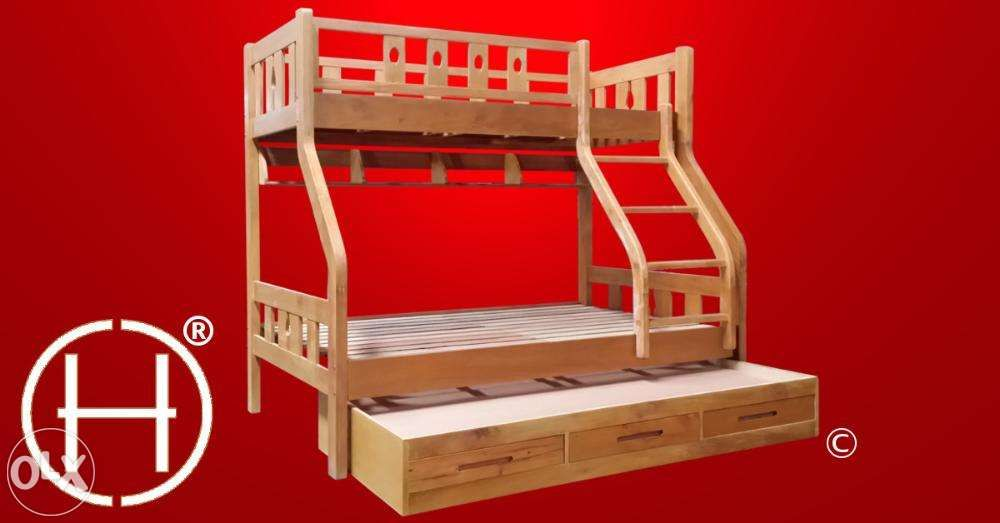 Solid wood double deck bed frame, Madison For Sale Philippines ...