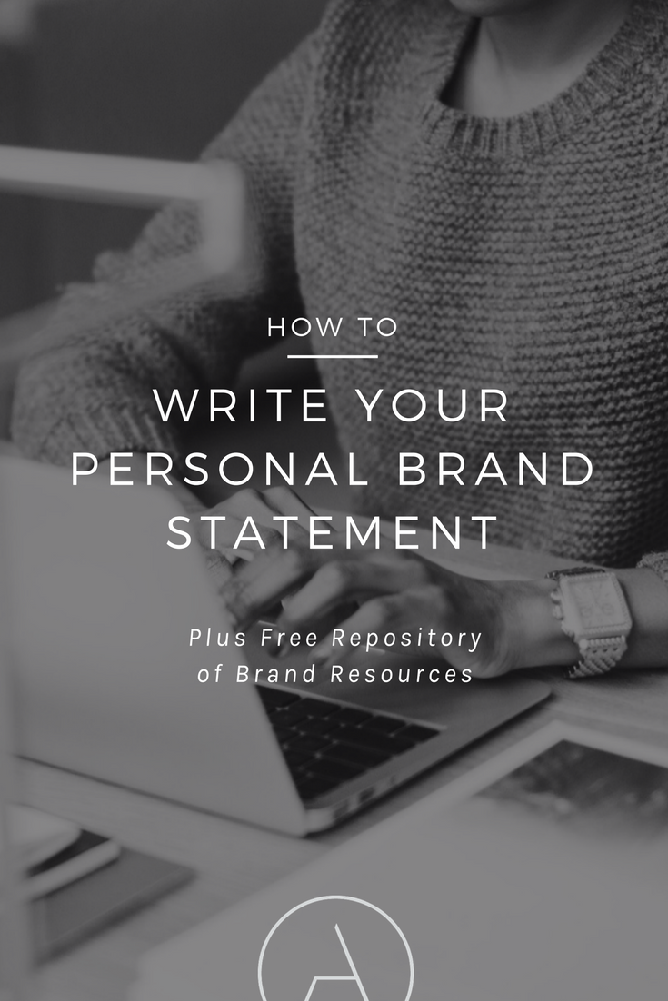 How To Write Your Personal Brand Statement  Personal Brand