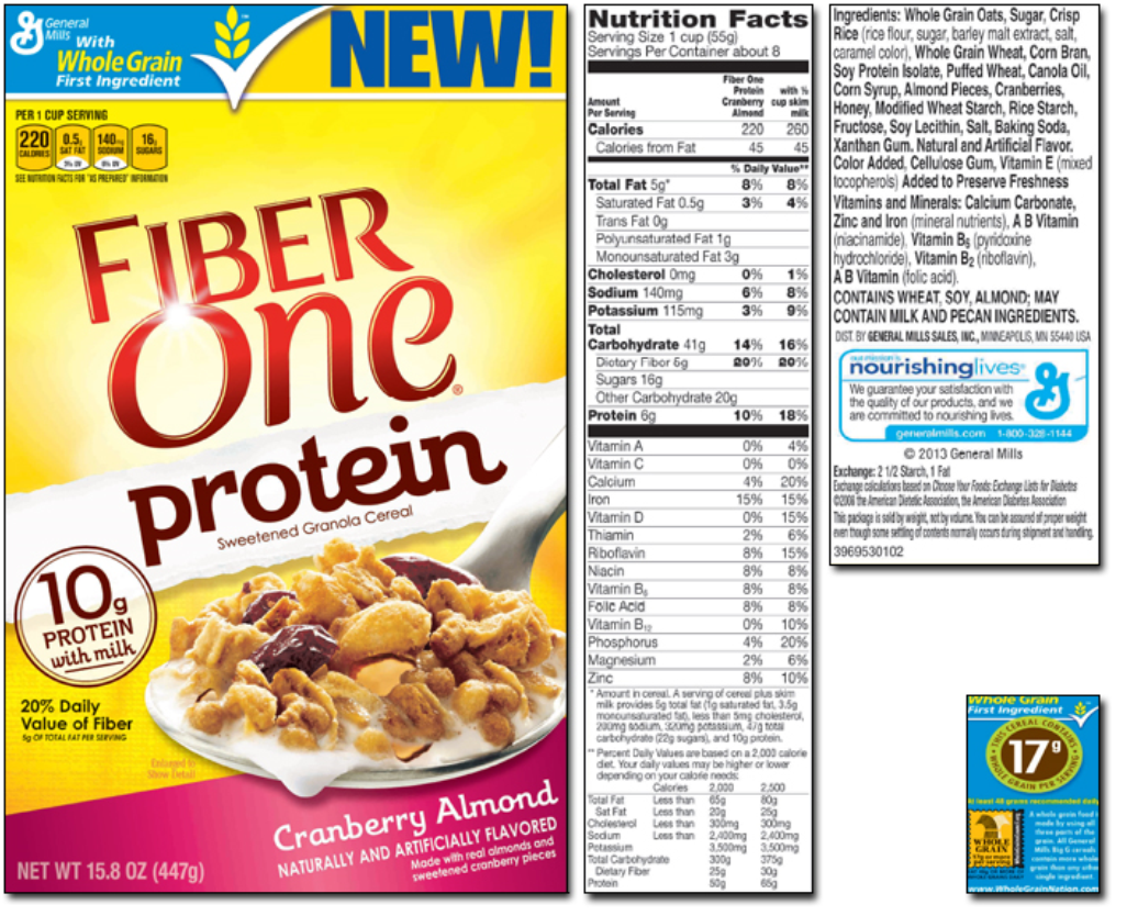 high-protein cereal nutrition label | highest protein foods