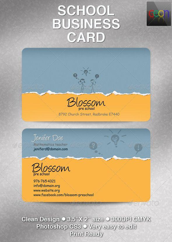 School Business Card, Excellent for Teachers | Pinterest | Business ...