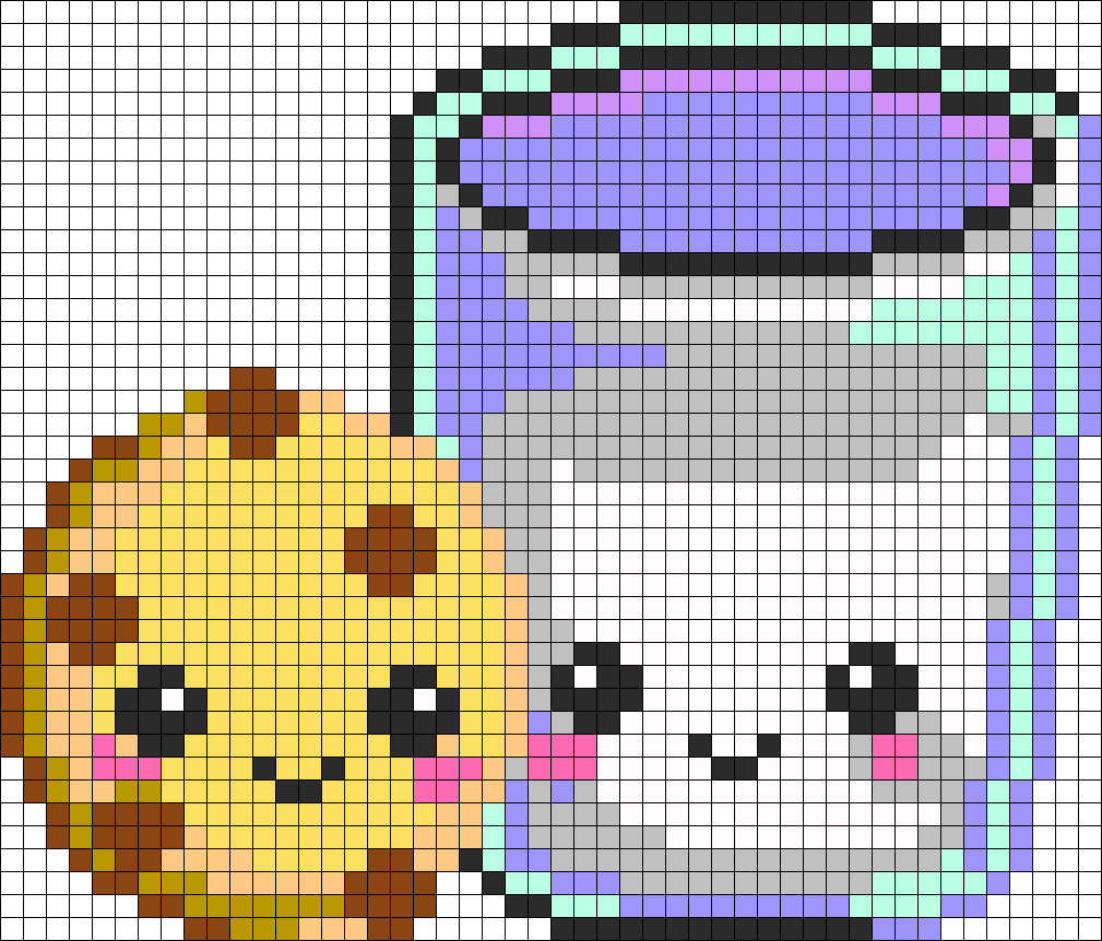Extremely cute perler bead/pixel art patterns by Kiladra on ...