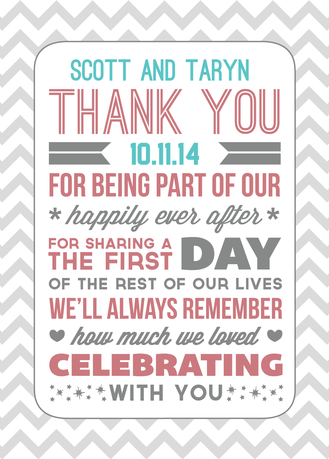 Our Thank You\'s :) | Scott & Taryn say I DO | Pinterest | Wedding ...