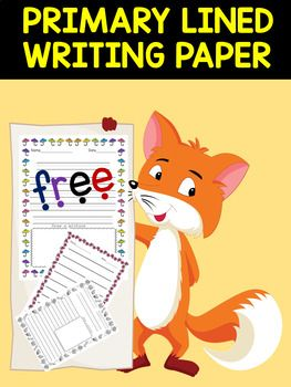 Primary Lined Writing Paper - With Drawing Frames This resource ...