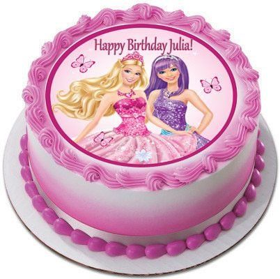 Barbie Princess Edible Birthday Cake Topper OR Cupcake Decor