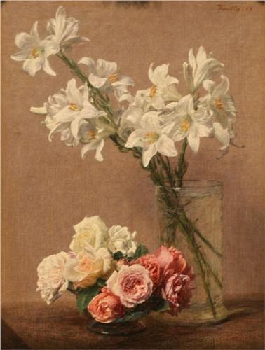 Roses and Lilies - Henri Fantin-Latour
