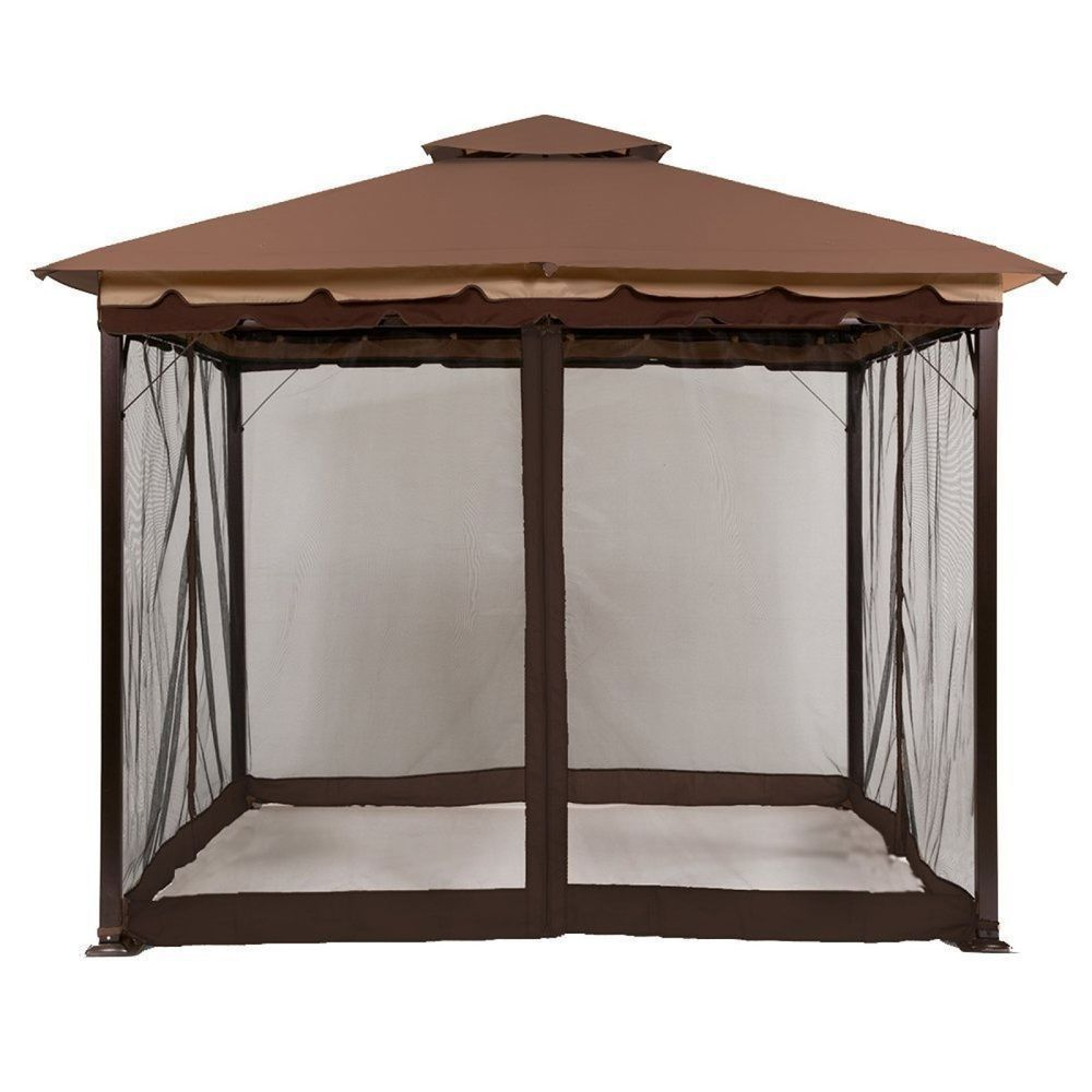Canopy Mosquito Net Screen Walls For 10 X10 And 10 X12 Gazebo