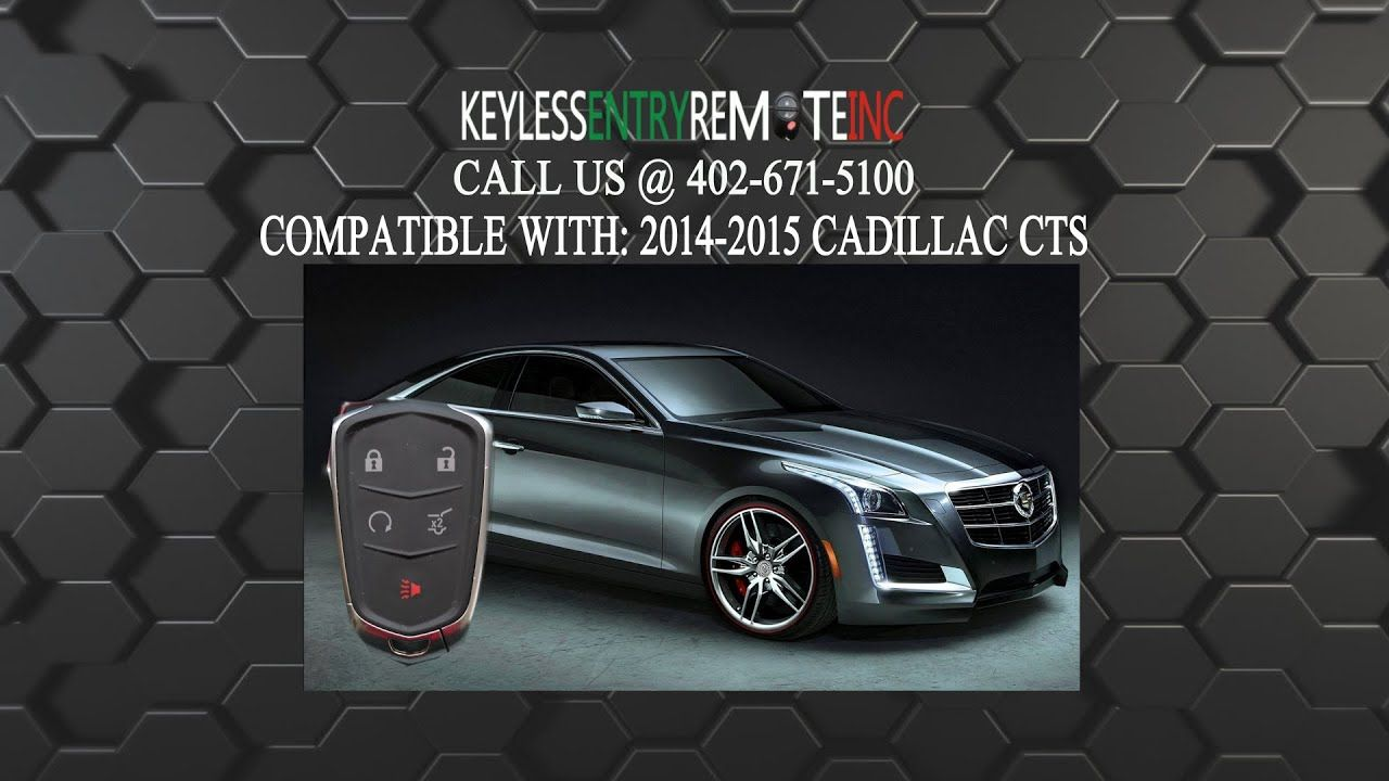 How To Replace Cadillac CTS Key Fob Battery 2014 - 2016