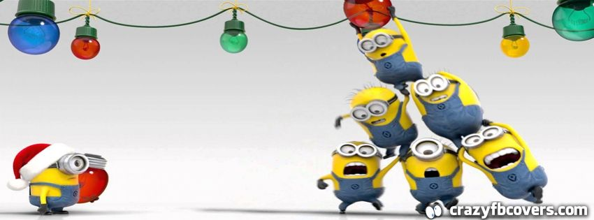 minions christmas facebook cover facebook timeline cover